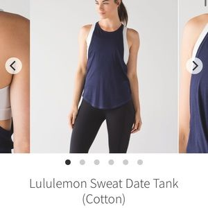 Lululemon Sweat Date tank top